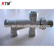 Válvula de radiador de ângulo de latão forjado