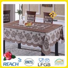 Tissu de table de couleur de dentelle de PVC pour le banquet / la maison