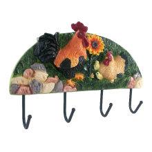 Crochet de décoration de coq, Crochet de vêtements en résine, Crochet suspendu