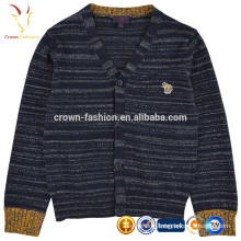 Plain Knitted Cashmere Wool Kids Sweater Cardigan