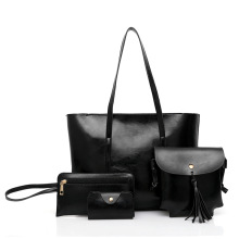 Retro tote fashion blank should brown ladies handbags