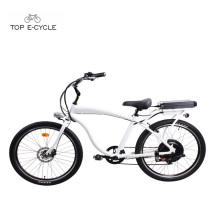 Bicicleta do cruzador da praia da bicicleta do helicóptero do quadro dos homens de alumínio / bicicleta elétrica da bicicleta