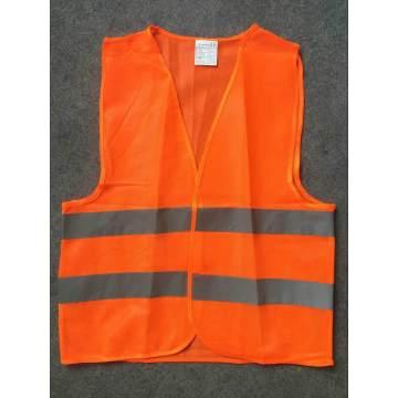 Yj-5007 Orange Red Polyester Reflektierende Hi Vis Sicherheitsweste mit reflektierendem Tape