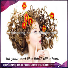 blonde and brown strong Italian keratin curly u tip hair extension