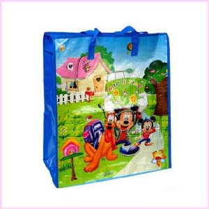Promotional Colorful Blue PP Woven Shopping Bag