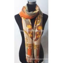 Fashion jacquard rayon scarf