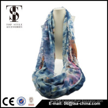 soft viscose infinity lady scarf loop shawl