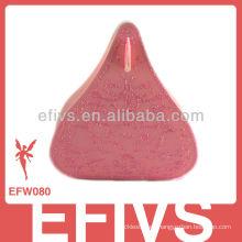 Delicado rosa besos boda favor caja hecha en China
