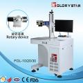 Machine de marquage au laser à fibre avec dispositif rotatif Matériaux en verre / matières plastiques