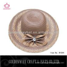 Chapéus modernos das mulheres do chapéu de palha flexível