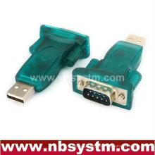 Adaptador USB a RS232, USB Un macho a db9 macho