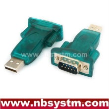 USB to RS232 adapter, USB A male to db9 male