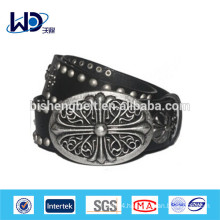 Rock style vintage style bronze metal belt