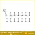 Конструкции из нержавеющей стали для губ кольца для губ шпильки для пирсинга ювелирных изделий