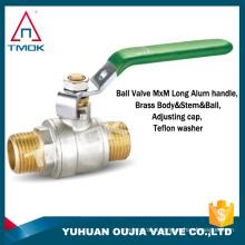 "TMOK 1 1/2"" cf8 ball valve level handle valve dual external thread cpvc brass ball valve"