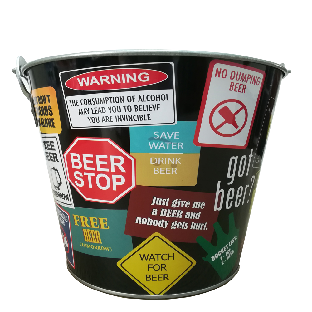 Beer Brand Full Color Aluminum Beer Bucket