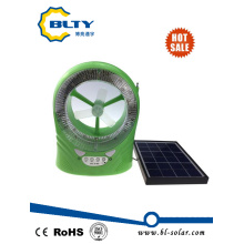 Solar Mini Cooling Fan with LED Light and Radio Function