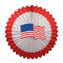 2015 novo design 27 polegadas EUA bandeira deluxe ventilador