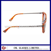 Classic Fashion Brand Metal With Acetate Sunglasses Uv400 Protection