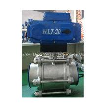 Válvula de bola eléctrica del acero inoxidable 3PC del actuador