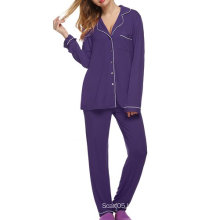 Women′s Comfort Sleepwear Long Sleeve Pajama Set