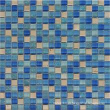 Mosaico de mosaico de vidrio de diseño de 4 mm Mosaico de piscina