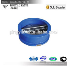 grey iron spring loaded wafer butterfly low pressure check valve