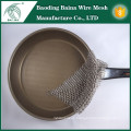 Stainless steel chainmail pot cookware for brush