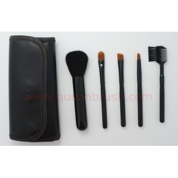 Échantillon gratuit 5PCS Black Nylon Cosmetic Brush Set
