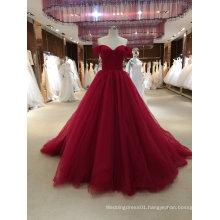 Princess Ball Gown Red Wedding Dress