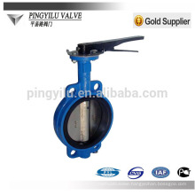 Standard wafer center line cast iron dn150 butterfly valve