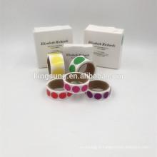 personnalisé autocollants de codage de couleur découpés à l'emporte-pièce 1/2 pouces