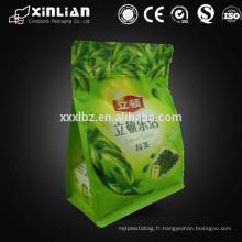 Sachet de thé vert / ziplock doublé en feuille et gousset inférieur