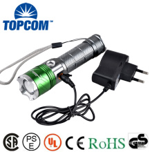 Aluminum 4 Modes Zoomable Rechargeable LED Torch Flashlight Power With 400NM Wave Band UV LED