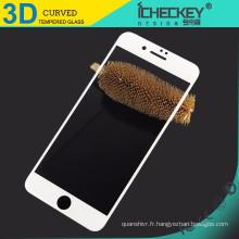 Vente chaude !!! 0.33mm 3D protecteur d'écran en verre trempé de couverture complète pour iphone 7