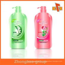 Гуанчжоу производитель оптовая печать и упаковочные материалы пользовательских липкий металлический шампунь бутылка этикетки