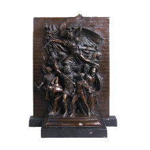Relief en laiton Statue guerrier Relievo Deco Bronze Sculpture Tpy-030