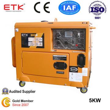 5kw Large Fuel Tank Portable Diesel Generator Set