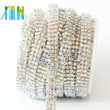 Chaîne de pierres de verre de Multi Rows pour la vente en gros