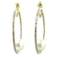 Nuevo diseño de calidad superior para la perla de la mujer 925 joyería de plata (e6534)