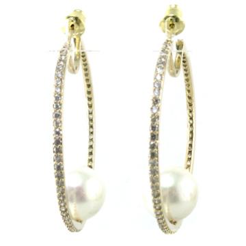 Design novo de qualidade superior para a jóia de prata do brinco 925 da pérola da mulher (e6534)