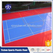 Cour amovible badminton terrain PP tuiles à emboîtement