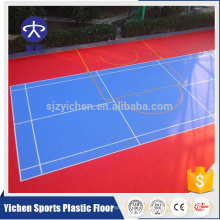Removeable backyard badminton court PP interlocking tiles