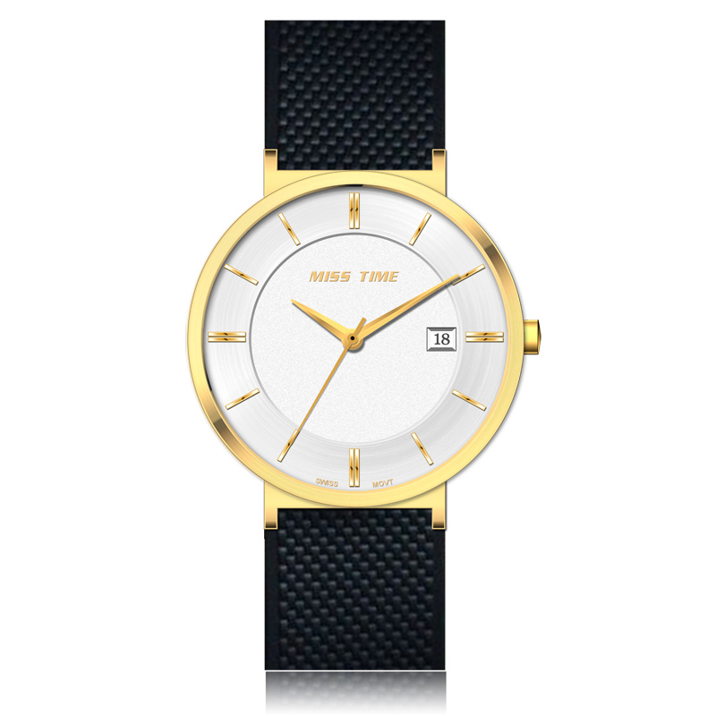 custom your logo rubber strap quartz watch