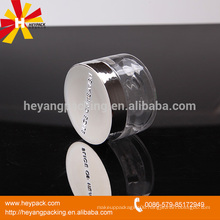 aluminum clear plastic cosmetics cream empty jar