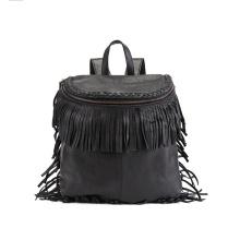 Moda Ladies Tassel Backpack PU Fringe Daypack Wzx1117