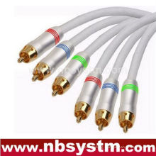 3xRCA PLUG to 3xRCA Plug Red/White/Yellow/Blue/Green