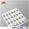 If vacío holográfico plata quita pegatinas, holograma de código QR