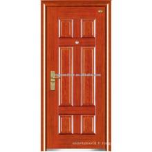 Portes extérieures en porte d'entrée en acier inoxydable