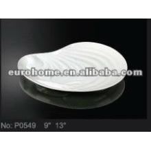 Concha de porcelana branca placas-eurohome P0549